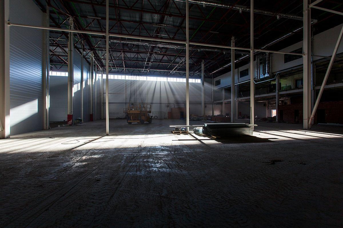 Промышленная съемка складов в СПб