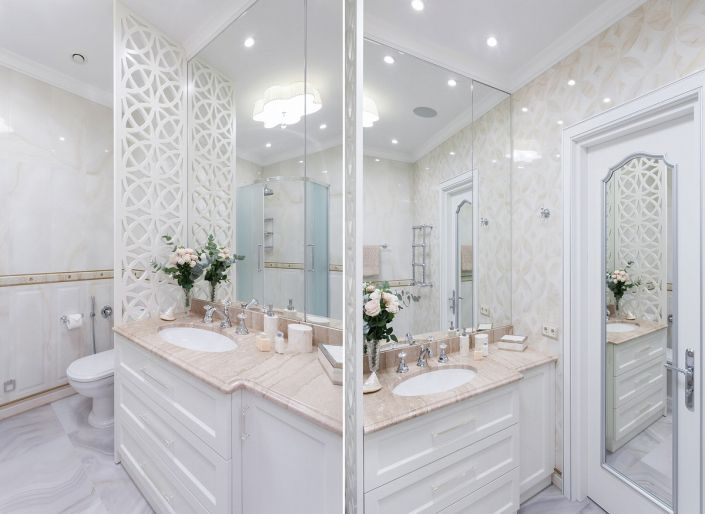 Интерьерное фото ванной комнаты авторский дизайн