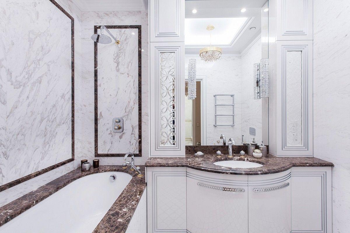 Интерьерное фото ванной комнаты авторский дизайн в СПб