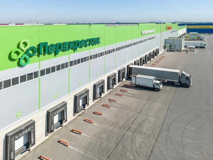 Аэро фотосъемка складских помещений и распределительного центра Перекресток