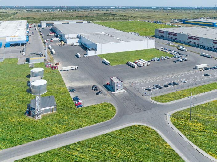 Аэро фотосъемка складских помещений
