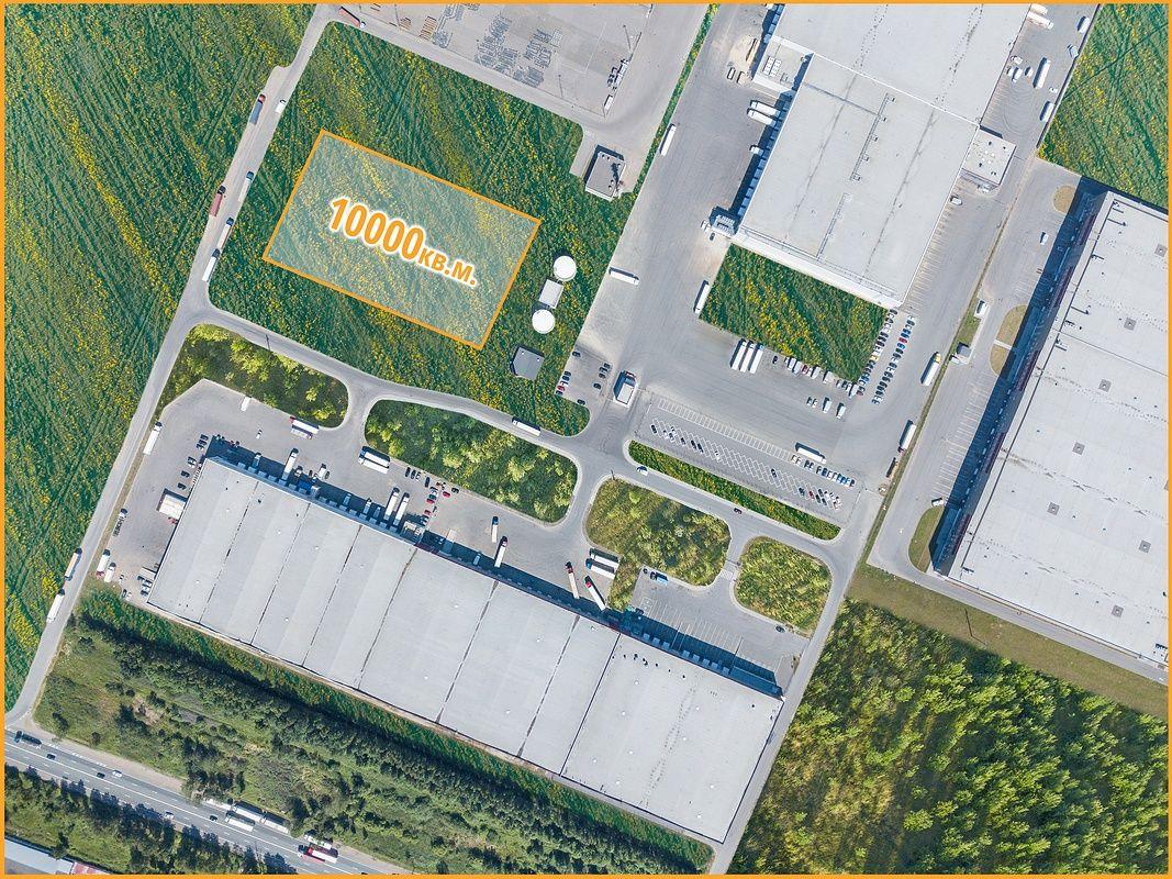 Аэро фото складских помещений и участка продажи земли